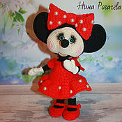 Сувениры и подарки handmade. Livemaster - original item Year Of The Rat 2020: Mouse dressed as Minnie mouse. mouse knitted. Handmade.