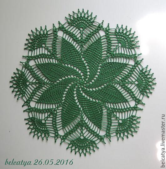 Текстиль, ковры ручной работы. Ярмарка Мастеров - ручная работа. Купить Зеленый вихрь. Handmade. Зеленый, круглая, мерсеризованный хлопок