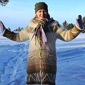 Одежда ручной работы. Ярмарка Мастеров - ручная работа Пальто из собачьей шерсти. Handmade.
