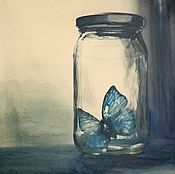 Картины и панно handmade. Livemaster - original item Picture: Ghost butterfly.. Handmade.