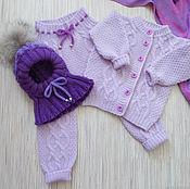 Работы для детей, handmade. Livemaster - original item Set violet. Handmade.