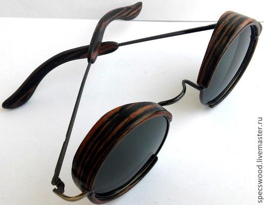Очки ручной работы. Ярмарка Мастеров - ручная работа. Купить Солнцезащитные очки из дерева № 204. Handmade. Деревянные очки