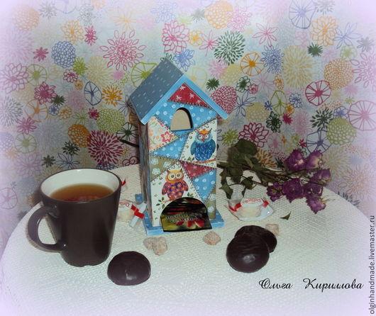"""Кухня ручной работы. Ярмарка Мастеров - ручная работа. Купить Чайный домик """"Лоскутки"""". Handmade. Разноцветный, чайная шкатулка"""