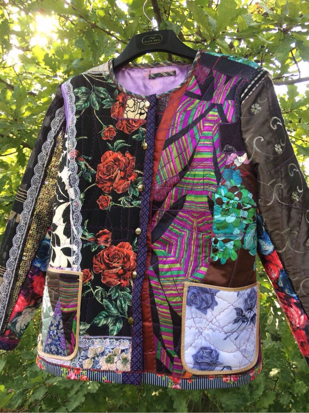 Women's patchwork jacket Roses, Outerwear Jackets, Moscow,  Фото №1