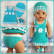 Одежда для кукол ручной работы. Ярмарка Мастеров - ручная работа Комплект одежды для куклы baby born (беби борн, беби бон). Handmade.