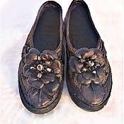 Обувь ручной работы handmade. Livemaster - original item Shoes: loafers leather felt. Handmade.