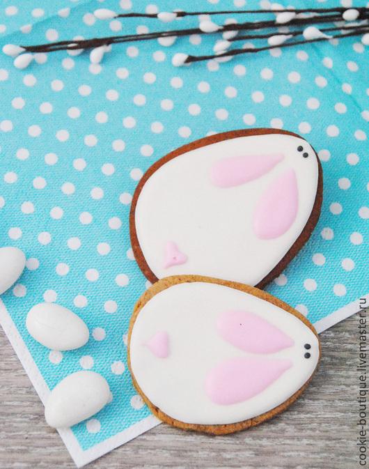 """Подарки на Пасху ручной работы. Ярмарка Мастеров - ручная работа. Купить Печенье """"Easter bunny"""". Handmade. Белый, зайчик"""