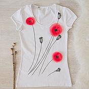 Одежда handmade. Livemaster - original item t-shirt Maki. Handmade.