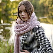 handmade. Livemaster - original item Scarves: Scarf in a large elastic band knitted from kid mohair. Handmade.