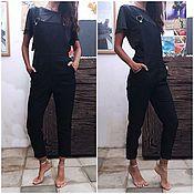 Одежда handmade. Livemaster - original item Jumpsuit denim black. Handmade.