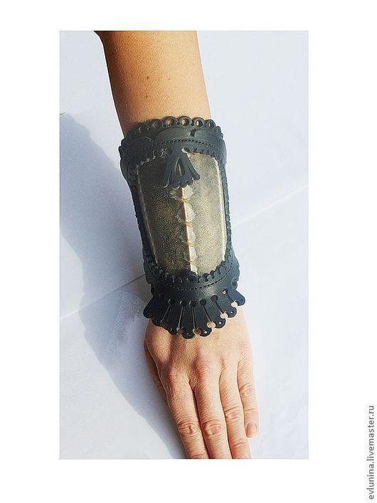 """Браслеты ручной работы. Ярмарка Мастеров - ручная работа. Купить наруч """"Фауна"""". Handmade. Наруч, украшение на руку, браслет, черный"""
