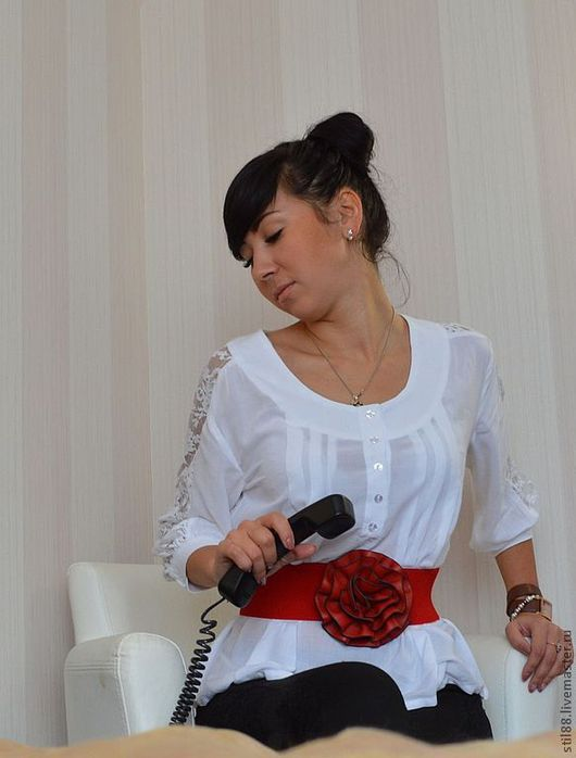 """Блузки ручной работы. Ярмарка Мастеров - ручная работа. Купить Блузка """"Нежный образ"""". Handmade. Белый, блузка нарядная, пуговицы"""