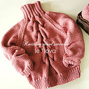 Одежда ручной работы. Ярмарка Мастеров - ручная работа Мягкий свитер цвета Темная пудра из толстой пряжи. Handmade.