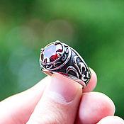 Украшения handmade. Livemaster - original item The steel ring with zircon. Handmade.