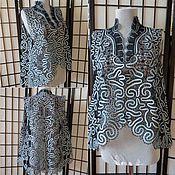 "Одежда handmade. Livemaster - original item Vest ""Wave"". Handmade."