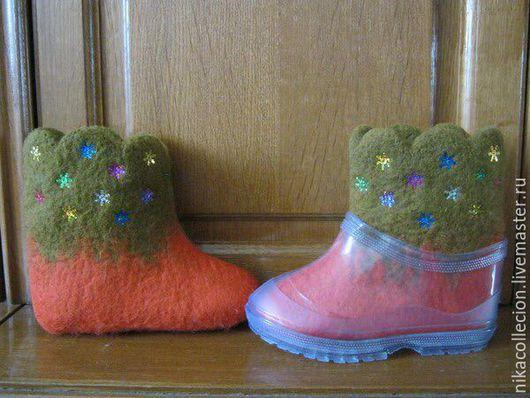 Обувь ручной работы. Ярмарка Мастеров - ручная работа. Купить Валенки детские для улицы ,ручная работа ,валяние.. Handmade.