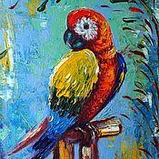 """Картины и панно ручной работы. Ярмарка Мастеров - ручная работа Картина маслом """" Тропический житель"""". Handmade."""