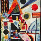 """Картины и панно ручной работы. Ярмарка Мастеров - ручная работа Картина вышитая крестом """"Вибрация"""". Handmade."""