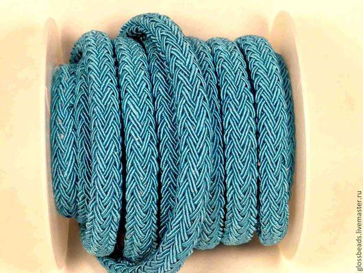Для украшений ручной работы. Ярмарка Мастеров - ручная работа. Купить Плетеный шнур для браслета Regaliz. Handmade. Голубой