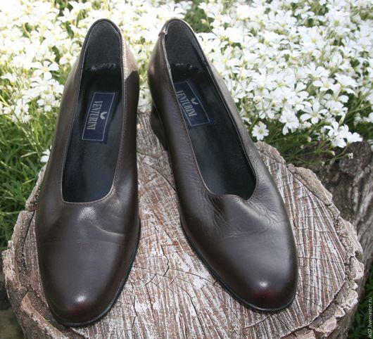 Винтажная обувь. Ярмарка Мастеров - ручная работа. Купить Туфли Кожаные от Alberto Venturini. Handmade. Купить, женская обувь, кожа