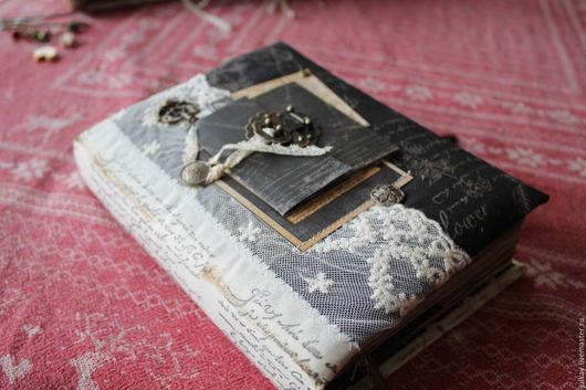 """Блокноты ручной работы. Ярмарка Мастеров - ручная работа. Купить Блокнот ручной работы """"Важнее слов.."""". Handmade. Черный"""