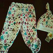 Работы для детей, ручной работы. Ярмарка Мастеров - ручная работа Ползунки и шапка носок. Handmade.