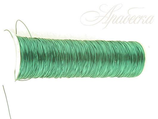 Проволока медная зеленого цвета 0.18мм EFCO (Германия) 25м/упак