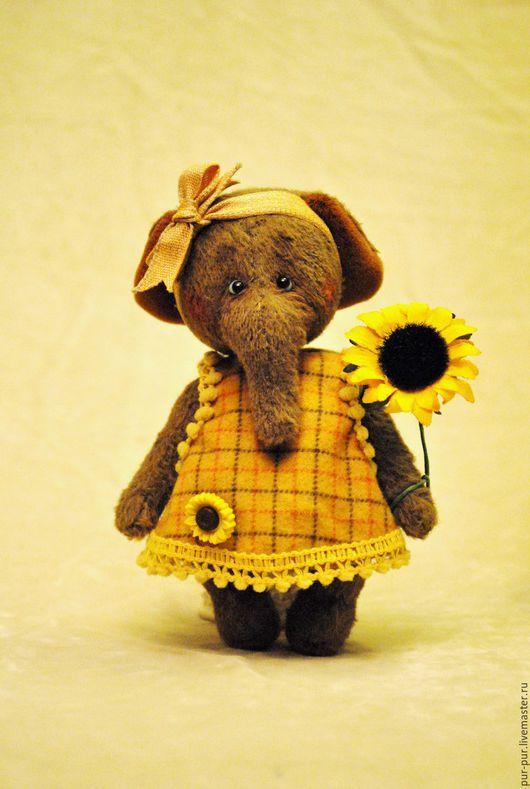 Мишки Тедди ручной работы. Ярмарка Мастеров - ручная работа. Купить Луша (Осеннее солнышко). Handmade. Коричневый, слоны, тедди
