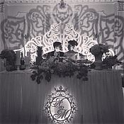 Свадебный салон handmade. Livemaster - original item Wedding monogram with crown. Handmade.