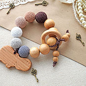"""Куклы и игрушки handmade. Livemaster - original item Прорезыватель-грызунок """"Бегемотик"""". Handmade."""