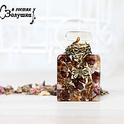 Украшения handmade. Livemaster - original item Pendant perfume Bottle with flowers Peach. Handmade.