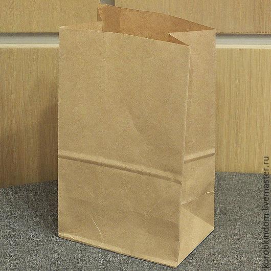 Упаковка ручной работы. Ярмарка Мастеров - ручная работа. Купить Пакет 12х20х8 крафт коричневый без ручек. Handmade.