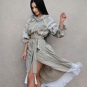 """Одежда handmade. Livemaster - original item Вышитое платье в стиле бохо """"Белые травы"""" ручная вышивка. Handmade."""