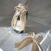 """Бутылки ручной работы. Ярмарка Мастеров - ручная работа Украшение на бутылки из коллекции """"Тирамису"""". Handmade."""