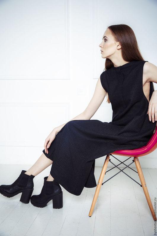 Платья ручной работы. Ярмарка Мастеров - ручная работа. Купить сарафан 026+. Handmade. Темно-серый, дизайнерская одежда, тренд