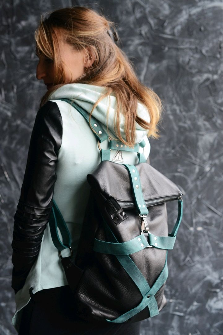 Backpack women leather Free Spirit Mint, Backpacks, St. Petersburg,  Фото №1