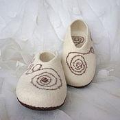 Обувь ручной работы. Ярмарка Мастеров - ручная работа Тапочки валяные Лабиринты. Handmade.