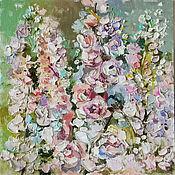 Картины и панно handmade. Livemaster - original item Delphinium, oil painting on canvas. Handmade.