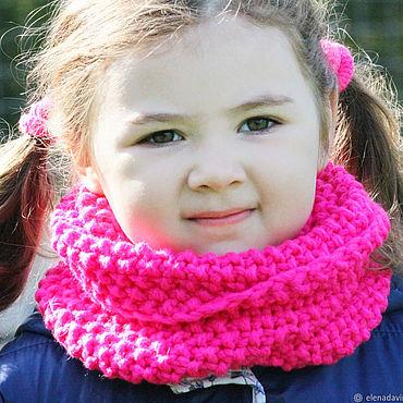 Clothing handmade. Livemaster - original item Snood for girls knitted