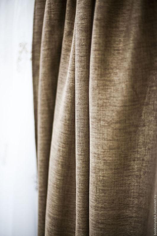 Текстиль, ковры ручной работы. Ярмарка Мастеров - ручная работа. Купить Шоколадный лен. Handmade. Коричневый, портьеры