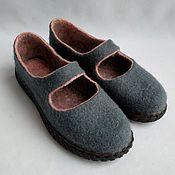 handmade. Livemaster - original item Mary Jane felt shoes. Handmade.