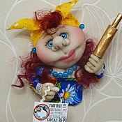 """Мягкие игрушки ручной работы. Ярмарка Мастеров - ручная работа Кукла-магнит на холодильник """"Хватит жрать!"""")). Handmade."""