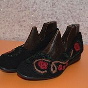 """Обувь ручной работы. Ярмарка Мастеров - ручная работа балетки вязаные """"Романс"""". Handmade."""