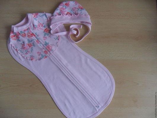 Нарядная пелёнка-кокон (длина до 55 см), окантованная тканью.Цена 600 р. На заказ.