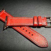 Ремни ручной работы. Ярмарка Мастеров - ручная работа Ремешок для часов Apple Watch из кожи. Handmade.