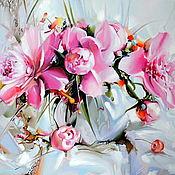 """Картины ручной работы. Ярмарка Мастеров - ручная работа Картины: """"Розовые пионы"""".. Handmade."""