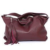 Сумки и аксессуары handmade. Livemaster - original item Marsala leather Bag with shoulder strap - Crossbody. Handmade.