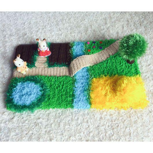 Развивающие игрушки ручной работы. Ярмарка Мастеров - ручная работа. Купить Коврик игровой. Handmade. Коврик, игрушки крючком
