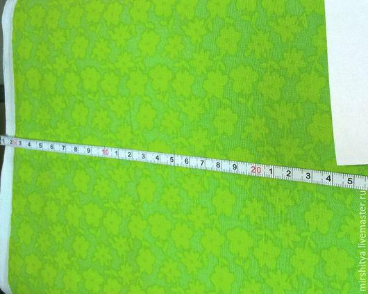 """Шитье ручной работы. Ярмарка Мастеров - ручная работа. Купить Ткань для пэчворка """"Яркие цветы"""". Handmade. Комбинированный, бирюзовый"""