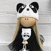 Мягкие игрушки ручной работы. Ярмарка Мастеров - ручная работа Куколка панда. Handmade.
